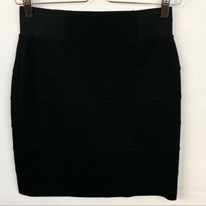 BCX l Black Mini Bodycon Skirt